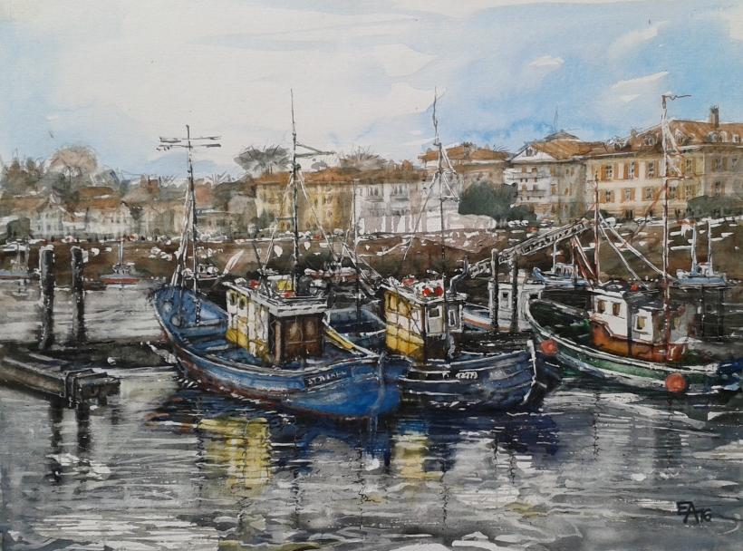 Port de St Jean de Luz- dim. 61x45cm