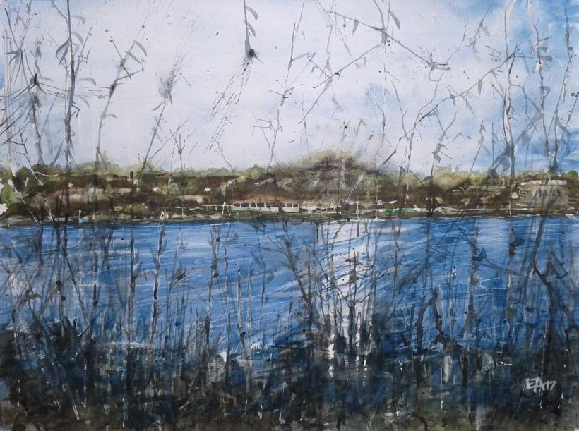 Le lac misteriex- dim. 62x47 cm (2)