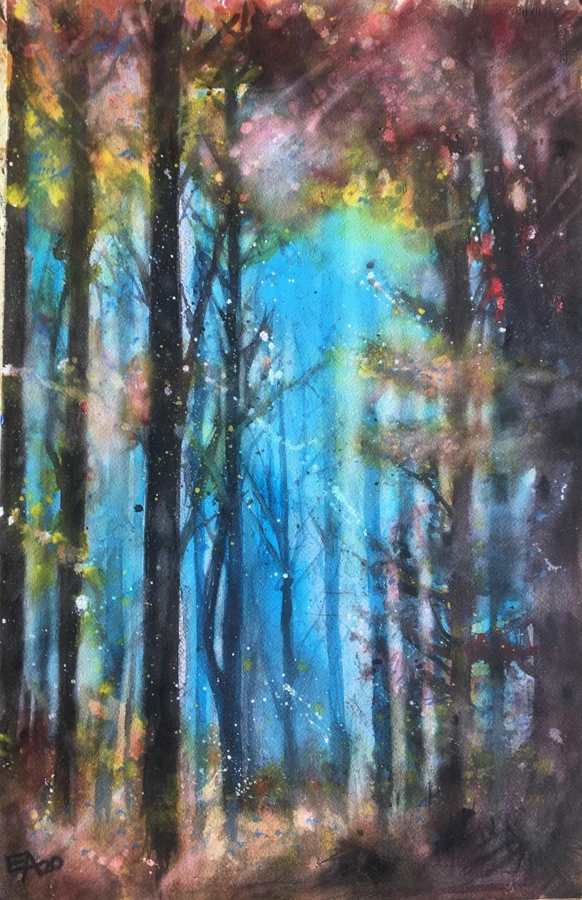 Le reveil de la forêt 2- dim. 36x55cm